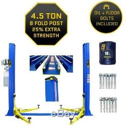 8 Fold Profile 2 Post Lift 4.5 Ton Vehicle Car Lift/ramp Hoist 4500kgs Two Post