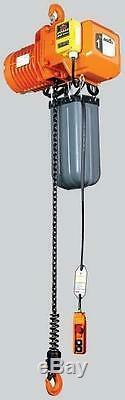 Acco 1-Ton Hook Mounted Electric Chain Hoist