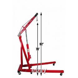 Adjust 2T/1.5/1/0.5T Hydraulic Engine Crane 2 Ton Steel Folding Stand Hoist Lift