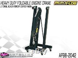 Aeroflow Af98-2042 2 Ton Foldable Engine Hoist Crane Powder Coated Black