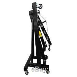 Black 2 Ton Hydraulic Lift Folding Engine Crane Stand Hoist Engine Jack