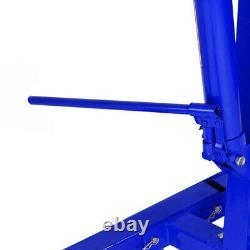 Blue Folding 1 Ton Hydraulic Jack Engine Crane Hoist Stand Workshop Lift 1000kg
