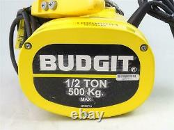 Budgit 1/2TON Electric Chain Hoist, 230/460v 3PH, BEHC5016