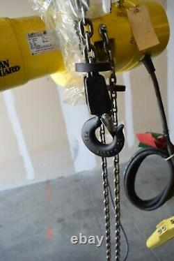 Budgit ManGuard Electric Chain Hoist 1/2 ton, 15' lift, 16 fpm, 460/3/60, lug