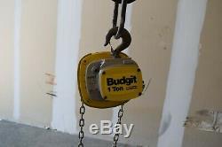 Budgit USA Hand Chain Hoist 1-TON, HOOK SUSPENSION, No load chain