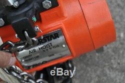 CM Airstar 7402 Air Chain Hoist 1 Ton 20ft Lift 90psig Pull Cord Control New