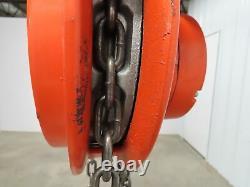CM Cyclone 1/4 Ton 500Lb Manual Chain Hoist 13' Lift Travel 1-Ton Beam Trolley