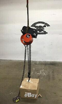 CM Cyclone 1/4 Ton Manuel Chain Hoist 10ft Work Chain NIB