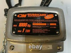 CM Hurricane 360° Manual Hand Chain Hoist 1 Ton 10 Ft Lift