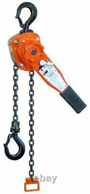 CM Series 653 Lever Hoist Hook Mount 3/4 Ton Capacity 5' Lift 12-5/8 Headroo