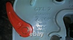 Campbell/Merrill 2 ton Load Capacity GXL Clamp 1/16 to 7/8Inch Grip