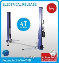 Car Vehicle Ramp 2 Post Lift Hoist 4 Ton Single Point Electrical Release