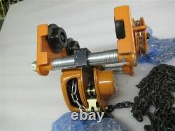 Chain Block LOW-2G, 1 Ton Chain Hoist Trolley, 3m (10') Lift Height, 2-1/2 8