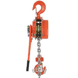 Chain Lever Block Hoist Come Along Ratchet Lift 3Ton 6600lb Capacity Work