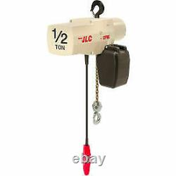 Coffing JLC 1/2 Ton, Electric Chain Hoist With Chain Container, 10' Lift, 16 FPM