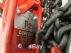 Coffing LSB-B-10, 1.5 Ton Ratchet Lever Chain Hoist, 10' Lift