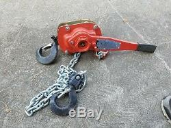 Columbus McKinnon 5320 Series 653 Lever Operated Hoist 3 Ton with5' foot lift