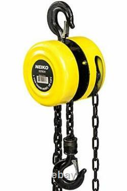Compact Manual Chain Hoist Winch Pulley Lift 02182A with Swivel Hook 1 Ton 15Ft