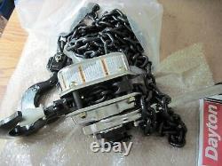 Dayton 3TP99 6000 lb Load Cap 20 Ft Hoist Lift Lever Ratchet Chain Hoist 3 Ton