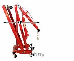 Dragway Tools 2 Ton Folding Hydraulic Engine Hoist Cherry Picker Shop Crane