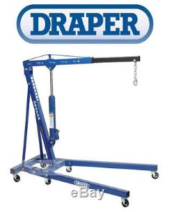 Draper 2 Ton Tonne Hydraulic Folding Engine Crane Stand Hoist Lift Jack 02611