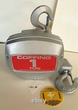 Duff- Norton Coffing 1 Ton CB Series Aluminum Hand Chain Hoist NO CHAIN
