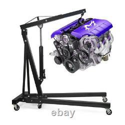Foldable 1Ton Engine Crane Stand Hoist Engine Jack Hydraulic Lifting Tool Garage