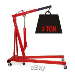 Folding 2 Ton Tonne Hydraulic Engine Hoist/ Crane/ 2000kg Garage Jack Stand Lift