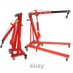 Folding 2 Ton Tonne Hydraulic Engine Hoist/Crane/ Stand Lift 2000kg Garage Jack