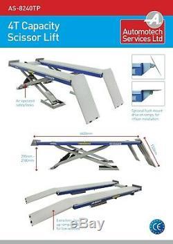Full Length Platform Scissor Car Lift / Vehicle Ramp / 4 Ton /hoist 4000kg