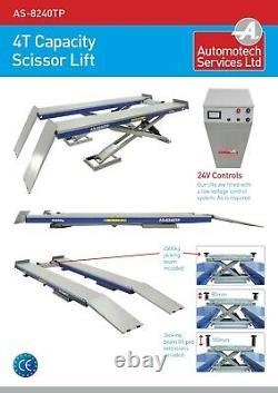 Full Length Scissor Car Lift / Vehicle Ramp / Hoist, 4 Ton, 4000kg
