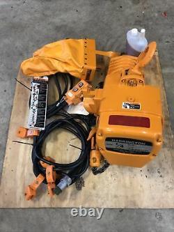 HARRINGTON ES003S ELECTRIC CHAIN HOIST 1/4 TON 12 LIFT 230/460V NEW Old Stock