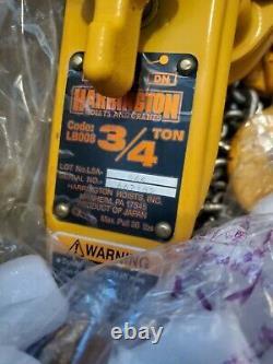 HARRINGTON L5LB008-LWH. 75 Ton 1500 Pound Lever Hoist Chain Type 10 FOOT PULL