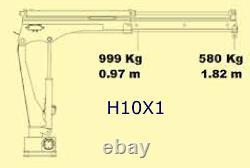 HYiND H10X1 Truck Crane 1 Ton hiab Loader 12v HPU version hyva maxilift VAT incl