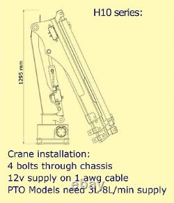 HYiND H10X3MP Marine Crane 1 Ton PTO boat/ship loader EN-ISO12944 VAT INCLUDED