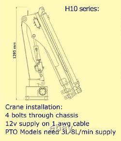 HYiND H10X3MP Marine Crane FREE DELIVERY 1 Ton PTO boat/ship Loader EN-ISO12944