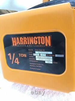 Harrington 1/4 Ton Electric Hoist NER Series 36' Lift