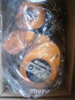 Harrington 5 Ton Chain Hoist. CF050-10 brand new never used
