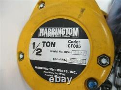 Harrington CF005-25, 1/2 Ton Manual Chain Hoist, 25' Lift