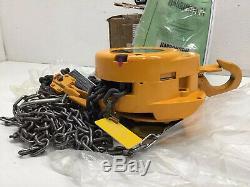 Harrington CF010 Model CF4-0638 1 Ton 12ft Lift Chain Hoist NIB