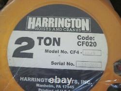 Harrington CF4 CF020-20 Manual Hand Chain Hoist, 2 Ton Load, 20' Lift