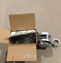 Harrington CX003 Mini Hand Chain Hoist, Hook mount, 1/4 Ton Capacity, 10' Lift