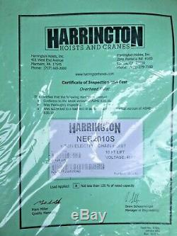 Harrington Ner2010s 1 Ton Electric Chain Hoist 3 Phase