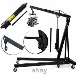 Heavy Wheeled Folding Hoist/Shop Crane Steel 2 Ton Hydraulic Engine Stand Lift
