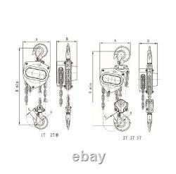 Hoist 1 Ton 3mtr Hand Operated Manual Chain Pulley Puller Block CB010