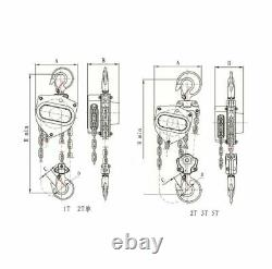 Hoist 3 Ton 3mtr Hand Operated Manual Chain Pulley Puller Block CB030