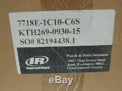 Ingersoll Rand 7718E-1C10-C6S 1/4 Ton 500LB Air Pneumatic Chain Hoist 10' Lift