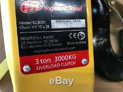 Ingersoll Rand KL300V Chain Hoist Lift Lever 3 ton