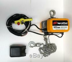 Ingersoll Rand Qch50-1nd50h20-16-3c Electric Chain Hoist 1/2 Tons 230v 3 Phase