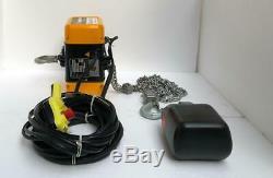 Ingersoll Rand Qch50-1nd50h20-16-3c Electric Chain Hoist 1/2tons 230v 3phase Uu